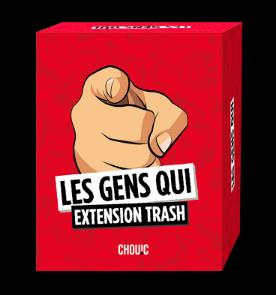 Boite du jeu les Gens Qui extension Trash
