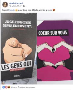 Photos de la boite Les Gens Qui reçue après la contribution sur Ulule