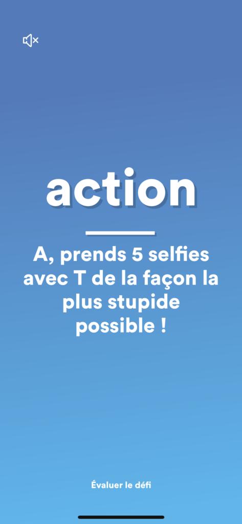 Action ou Vérité - exemple de gage